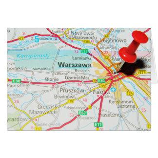 Warsaw, Warszawa  in Poland Card
