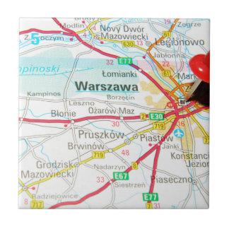 Warsaw, Warszawa  in Poland Ceramic Tile