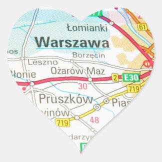 Warsaw, Warszawa  in Poland Heart Sticker