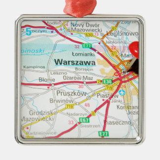 Warsaw, Warszawa  in Poland Metal Ornament