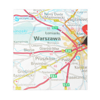 Warsaw, Warszawa  in Poland Notepad