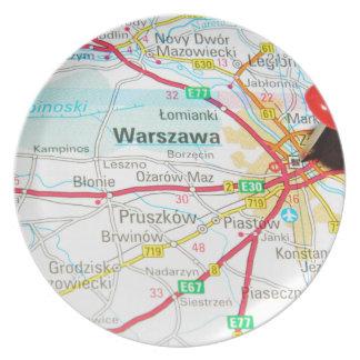 Warsaw, Warszawa  in Poland Plate