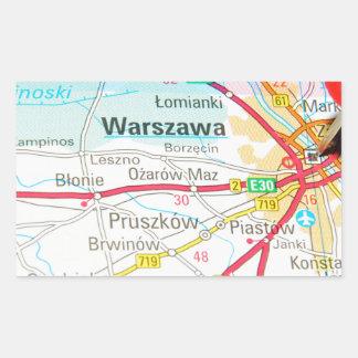 Warsaw, Warszawa  in Poland Rectangular Sticker