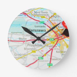 Warsaw, Warszawa  in Poland Round Clock