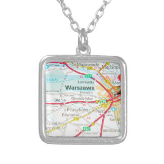 Warsaw, Warszawa  in Poland Silver Plated Necklace