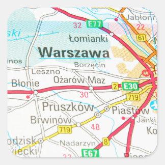 Warsaw, Warszawa  in Poland Square Sticker