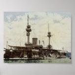 Warship, Algiers, Algeria classic Photochrom Posters