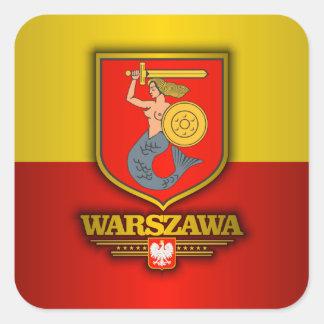 Warszawa (Warsaw) Square Sticker