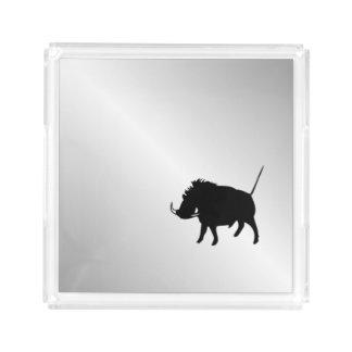 Wart Hog Silver Acrylic Tray