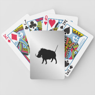 Wart Hog Silver Bicycle Playing Cards