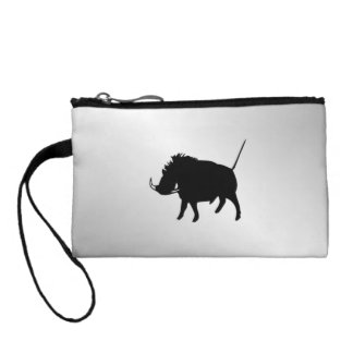 Wart Hog Silver Coin Purse