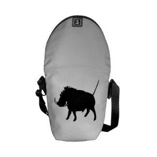 Wart Hog Silver Messenger Bags