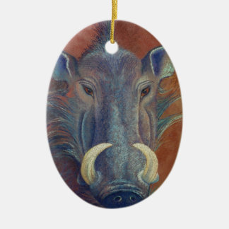 Warthog Ceramic Oval Decoration