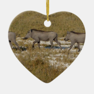 Warthog Parade Tom Wurl Ceramic Heart Decoration