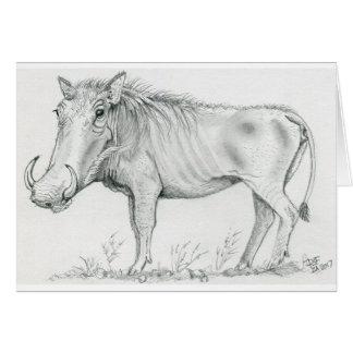 Warthog Valentine Card
