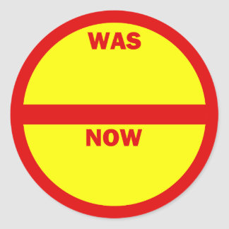WAS - NOW Retail Sales Stickers