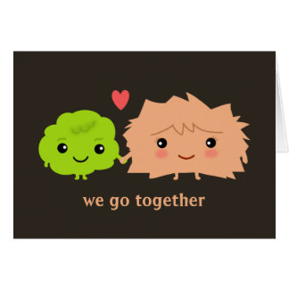 Wasabi and Ginger Happy Couple with Custom Text Card