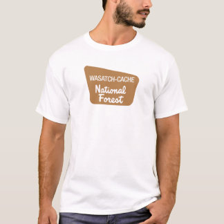 Wasatch-Cache National Forest (Sign) T-Shirt
