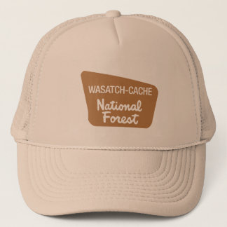 Wasatch-Cache National Forest (Sign) Trucker Hat