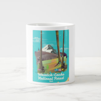 Wasatch-Cache National Forest Utah vacation poster Large Coffee Mug