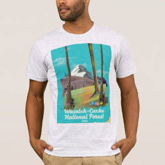 Wasatch-Cache National Forest Utah vacation poster T-Shirt