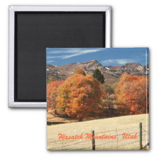 Wasatch Mountains, Utah Square Magnet
