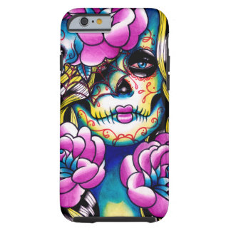 Wash Away Sugar Skull Girl Tough iPhone 6 Case