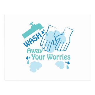 Wash Away Worries Postcard