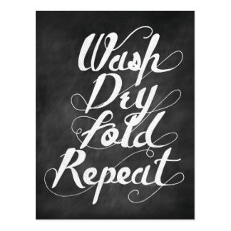 Wash Dry Fold Repeat Postcard