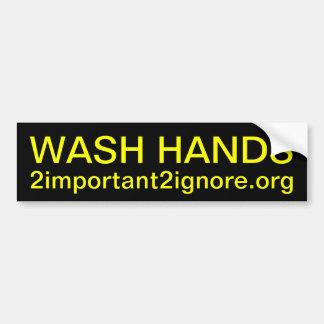 WASH HANDS bumper sticker