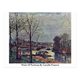 Wash Of Pontoise By Camille Pissarro Post Cards