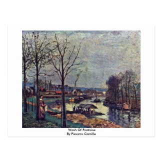 Wash Of Pontoise By Pissarro Camille Post Cards