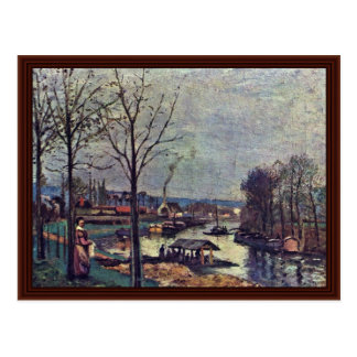 Wash Of Pontoise By Pissarro Camille Post Card