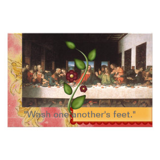Wash one another's feet stationery