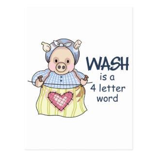 WASH POSTCARD