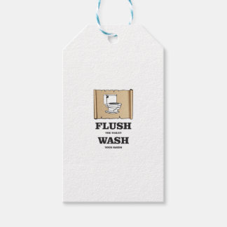 wash rules paper bathroom