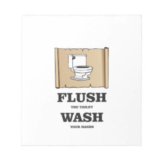 wash rules paper bathroom notepads
