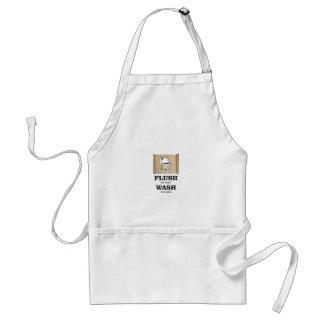 wash rules paper bathroom standard apron