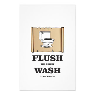 wash rules paper bathroom stationery paper