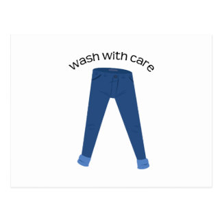 Wash With Care Post Card