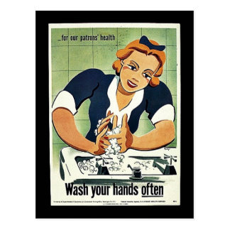 Wash Your Hands Often Post Card