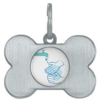 Wash Your Hands Pet ID Tag