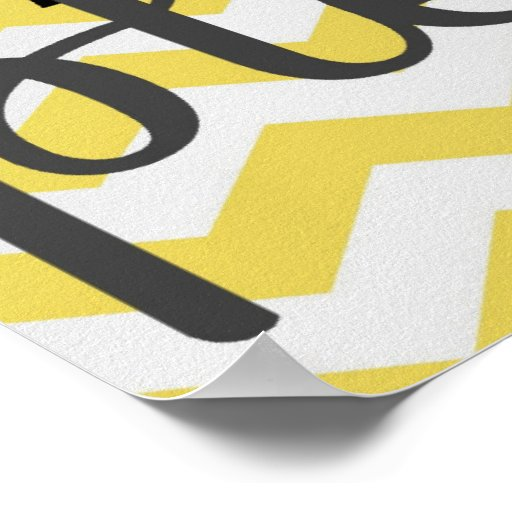 Wash Your Hands Please - Chevron - Yellow Grey Print
