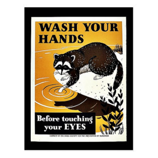 Wash Your Hands Post Cards