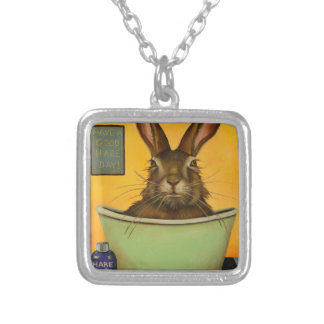 Wash Your Hare Silver Plated Necklace
