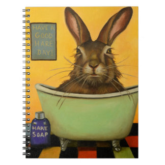 Wash Your Hare Spiral Notebook