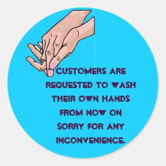 Wash your own round sticker