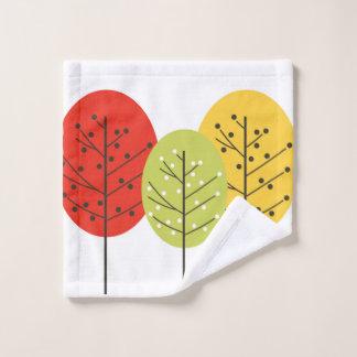 Washcloth trees design wash cloth