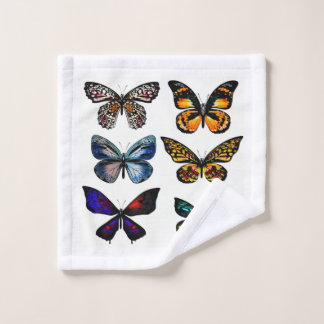 Washcloth with butterflies wash cloth