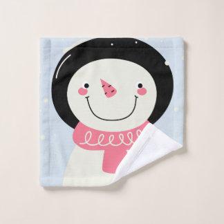 Washcloth with snowman wash cloth